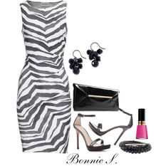 I really need this in my closet!!!! :D    zebra print dress, created by bonnaroosky on Polyvore