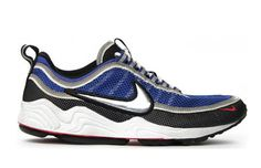 Zoom Spiridon Year Introduced: 1997 Some will remember this shoe because of the great Michael Johnson. Others will recall that it was one of first runners to employ Zoom Air. With shiny swoosh-only in OG form-and mesh, the lightweight upper translated into the perfect summer sneaker. The color schemes were mean, and the even as the shoe took on its unique patina the beauty of the silhouette remained intact. Who remembers busting a hole at the big toe?