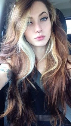 Multi toned dyed hair