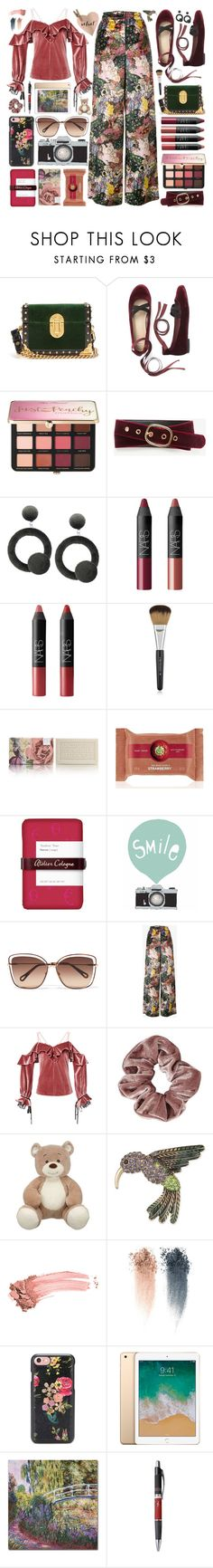"""""""Velvet Touch"""" by sunx2 ❤ liked on Polyvore featuring Prada, Sephora Collection, Ann Taylor, NARS Cosmetics, TokyoMilk, Atelier Cologne, Seventy Tree, Chloé, Erdem and self-portrait"""