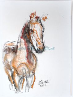 Horse Painting - Cheval Dessin original POULAIN pastels et fusain https://cheval2couleur.wordpress.com/ horse painting peinture cheval Horse Art