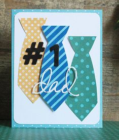 Handmade Father's Day card created by @beckywilliams1975 for @Pebbles Smith Inc. #FathersDay #Cards #Cardmaking