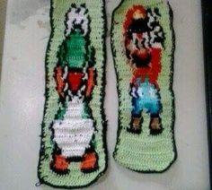 Marcadores de livro Mario e Yoshi.