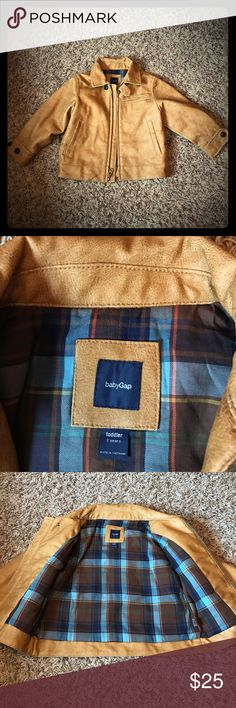 Gap toddler jacket Faux leather Moto jacket   In awesome condition GAP Jackets & Coats