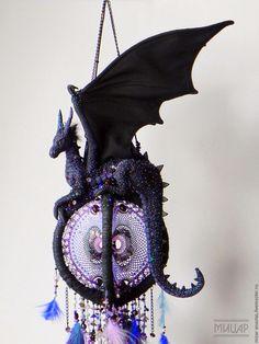 """Купить Объёмный ловец снов """"Дракон-страж"""" - дракон-страж, ловец снов, dreamcatcher, dragon"""