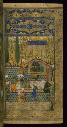 This is an illuminated and illustrated Safavid copy of the Book of kings (Shāhnāmah) by Firdawsī (d. 411 or 416 AH / 1020-5 CE), dating to the tenth century AH / sixteenth CE. The text is largely written in black nastaʿlīq script with headings in blue on a polychrome ground. The codex opens with an illuminated medallion (fol. 1a), followed by a double-page illuminated frontispiece (fols. 1b-2a), poorly preserved. The preface, ordered by Bāysunghur in 829 AH / 1425-6 CE, begins on fol. 2b…