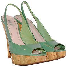 Miu Miu Sage Patent Bamboo Sandals http://www.consignofthetimes.com/product_details.asp?galleryid=6831