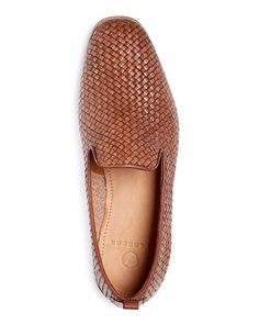 Uphold your distinguished style on your downtime with these sleek, slip-on woven loafers from H By Hudson. | Leather | Made in India | Fits true to size, order your normal size | Shoe will stretch sli