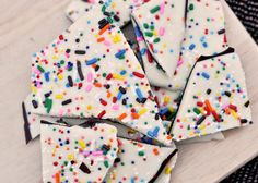 Cake Batter Birthday Bark