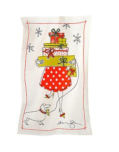 The latest from Alanna Cavanagh, and exclusively at the Bay - A limited edition linen tea towel just for the holidays!