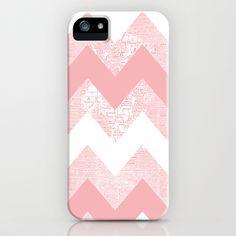 Her Pink Chevron World iPhone & iPod Case