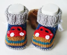 Knitted & Crocheted Shoes - Baby Shoes Baby Car Boots - a unique product by st . Baby Knitting Patterns, Best Baby Gifts, Crochet Yarn, Baby Dress, Baby Kids, Baby Shoes, Slippers, Booty, Crafts