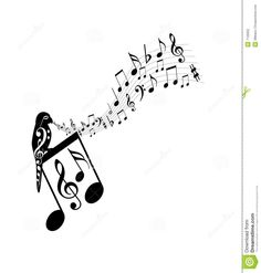 A silhouette parrot singing the Music notes on dark brown backgroun ,Music notes. A silhouette parrot singing the Music notes on dark brown backgroun , Make Mine Music, Music Love, Music Is Life, Music Pics, Music Songs, Music Doodle, Note Tattoo, Music Crafts, Bluegrass Music