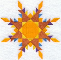 Feathered Star Quilt Block - Lg