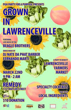 Too late for this year!  Benefit for Lawrenceville Farmers Market - Taste of Pittsburgh: Whatcha doin TONIGHT?