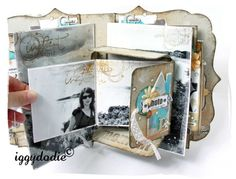 Must see.  Many interactive page ideas.  See our Mini Album Tutorials group board.