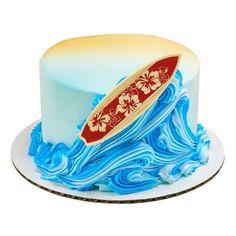 Beach Theme Desserts, Beach Themed Cakes, Beach Cakes, Surf Decor, Cupcakes, Cupcake Cakes, Cupcake Toppers, Hawaiian Theme Cakes, Surfer Cake