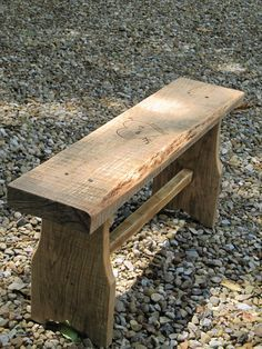 "Build yourself a One Board Bench with an 8' 2x10, or mabey use that vintage piece of old barn timber you've been saving.......D. 42"" seat with 16"" tapered legs and a 2x2@ 30"""