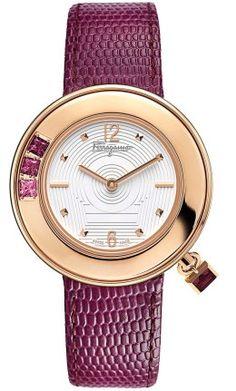 Ferragamo Designer Watches - F64SBQ5201 S109 Ladies Gancino Sparkling