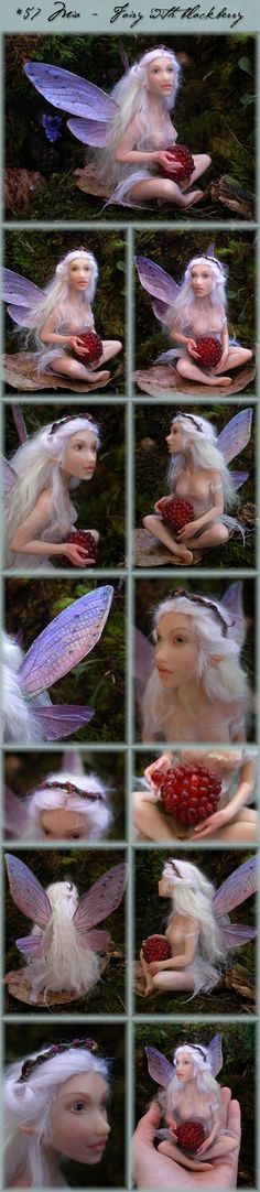 Nenúfar Blanco ~ #57 Mia - Fairy with blackberry