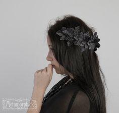 Wreath of black ivy leaves Versatile diadem Maenad by MetamorphDK, $75.00