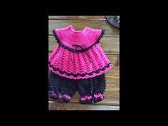 Coquetos conjuntos para la consentida de la casa tejidas a crochet - YouTube