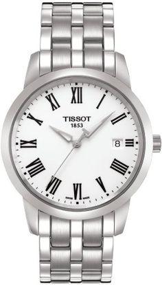Amazon.com: Tissot Men's T0334101101300 Dream White Dial Watch: Tissot: Watches