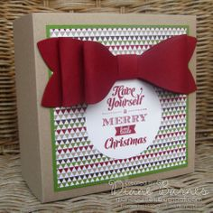 Stampin Up Christmas box using Envelope Punch Board by Di Barnes colourmehappy #stampinup #colourmehappy #Christmasbox