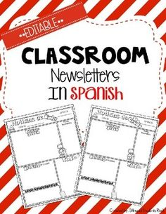This year you are teaching second grade and next year you are teaching third grade. This product you can use from Kinder up to 5th grade. This is a Powerpoint product. When you purchase this product you will receive the following Classroom Newsletters in SPANISH.