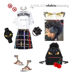 Untitled #225 by missactive-xtraordinary on Polyvore featuring polyvore, fashion, style, Moschino, Love Moschino, Fendi, John Brevard, Accessorize and clothing