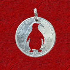 Penguin Jewelry Penguin Pendant Penguin Necklace by ScribesChoice