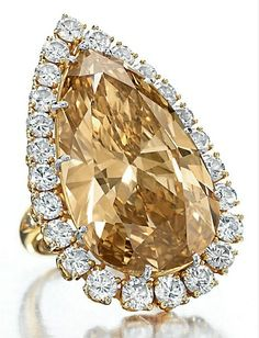 The Burton Cognac Diamond ring by Van Cleef and Arpels, formerly owned by Elizabeth Taylor