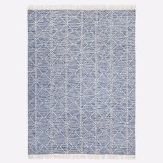 Reversible and easy to care for, our handwoven Reflected Diamonds Indoor/Outdoor Rug is made of recycled polyester that's both incredibly soft and highly durable. Its linework design adds modern pattern to high-traffic areas, from playroom to entr… Indoor Outdoor Carpet, Blue Outdoor Rug, Rug Loom, Circle Rug, Rug Size Guide, Outdoor Dining Set, Outdoor Decor, Up House, Modern Area Rugs