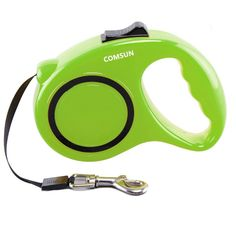 Retractable Dog Leash, Comsun Pet Leash Dog Lead for Small Medium Large Dogs up to 33lbs, Tangle Free, One Button Break and Lock ABS Casing, Nylon Ribbon Green ** Check out the image by visiting the link.