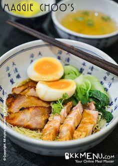 red pork noodle