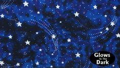 Star Magic Fabric by Michael Miller aka Starstruck. $4.75, via Etsy.