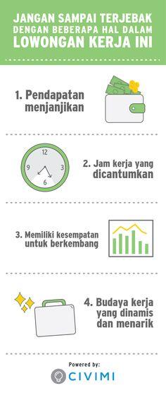 Jangan Sampai Terjebak dengan Beberapa Hal Dalam Lowongan Kerja ini (Infographic)