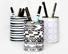 Awesome DIY Projects For Your Dorm Room: DIY Pencil and Pen Cup
