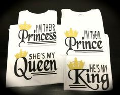 Mother of a prince Father of a prince Son by GlitterGirlsShopLLC