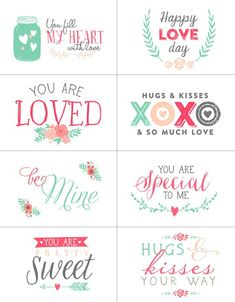 Free Valentines day labels