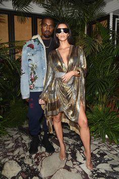 Kanye and Kim Kardashian West Balmain's spring 2017 after-party. Photo: Balmain.