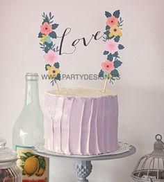 10 cake toppers imprimibles para tu tarta de boda