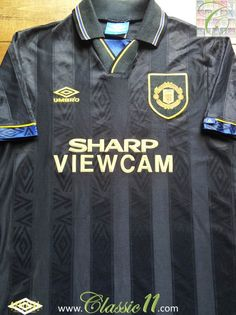 1993 94 Man Utd Away Football Shirt (S) 892596afa
