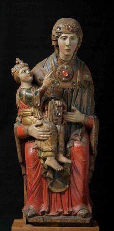 Madonna col Bambino detta Madonna d'Acuto ( XII-XIII secolo ) - Museo Nazionale del Palazzo di Venezia