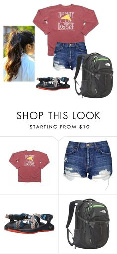 """""""Jazz band and fiddle lessons today"""" by livimay ❤ liked on Polyvore featuring Topshop, Chaco and The North Face"""