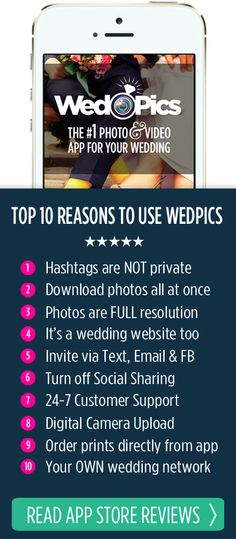 Top 10 Reasons To Use WedPics App Over Hashtags For Your Wedding