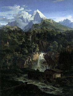 The Watzman, 1824 - Adrian Ludwig Richter - Gallery: Neue Pinakothek, Munich