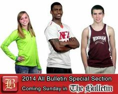 Coming Sunday: 2014 All Bulletin Special Section - Sunday's All-Bulletin Winter Sports section will honor the top local high school athletes from boys and girls basketball, wrestling, boys swimming and boys and girls indoor track. Read stories on the athletes of the year in each sport and catch up on standings and statistics from the winter season. #CT #Connecticut #CTSports #HSSports