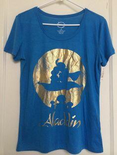 DISNEY Blue Aladdin T Shirt Medium NWT Retail 12.99 #Disney #GraphicTee