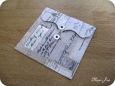 Pour tes beaux yeux...le Scrap de Fabinou: tutoriel pour créer une enveloppe à fermeture à ficelle